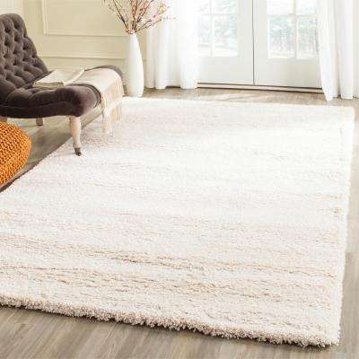 Milan Shag Ivory 10 ft. x 14 ft. Area Rug