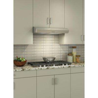 Mantra AVDF1 Deluxe 30 in. Convertible Under Cabinet Range Hood with Light in Stainless Steel