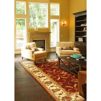 State of Honor Red/Ivory 4 ft. x 5 ft. Area Rug