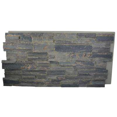 Cliff Grey 24 in. x 48 in. x 1-1/4 in. Faux Tennessee Stack Stone Panel