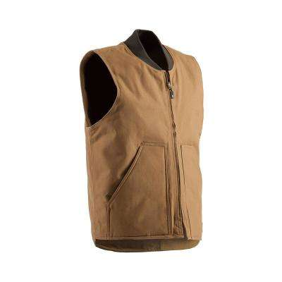 Men's 100% Cotton Quilt Lined Duck Workman's Vest