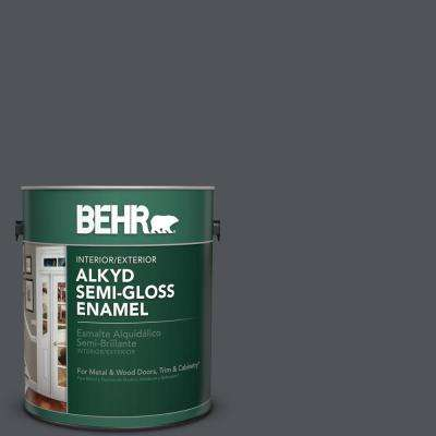 1 gal. #N510-6 Orion Gray Semi-Gloss Enamel Alkyd Interior/Exterior Paint
