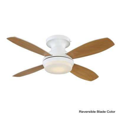 Kinsey 44 in. LED Indoor White Ceiling Fan with SkyPlug Technology with Remote Control