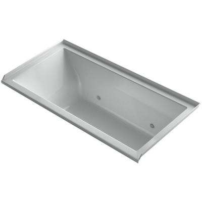 Underscore 5 ft. Air Bath Tub with Right Drain in Ice Grey