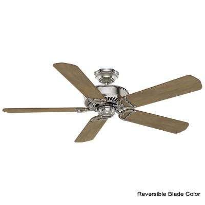 Panama 54 in. Indoor Brushed Nickel Ceiling Fan