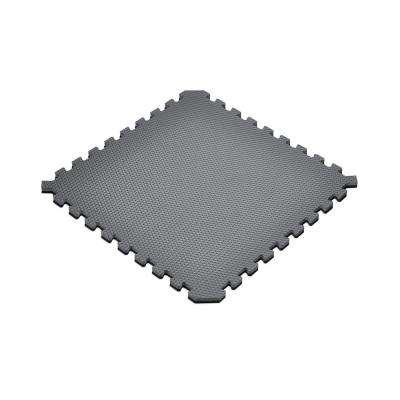 Black/Gray 24 in. x 24 in. x 0.79 in. Foam Interlocking Reversible Floor Mat (4-Pack)