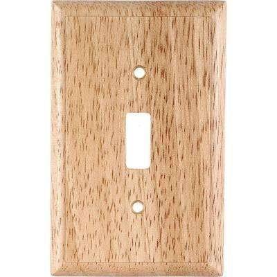 1 Toggle Switch Wall Plate - Solid Oak