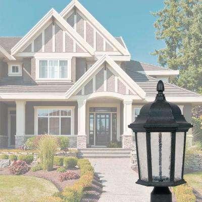 Abbington Driftwood Outdoor LED Post Lantern