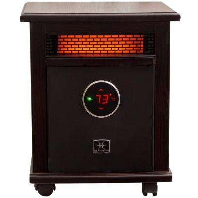 Logan Deluxe 1,500-Watt Infrared Quartz Portable Heater with Built-In Thermostat and Over Heat Sensor