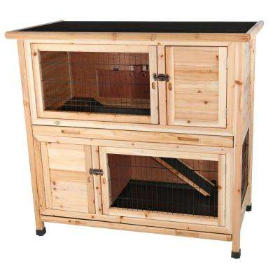 3.75 ft. x 2 ft. x 3.5 ft. Medium 2-Story Rabbit Hutch