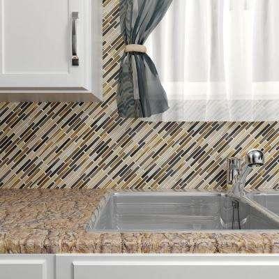 Rustica Brick Highlands 10-3/4 in. x 12-3/4 in. x 8 mm Porcelain Mosaic Tile