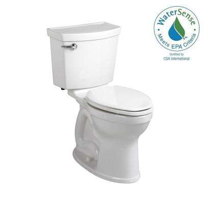 Champion 4 Max Tall Height 2-Piece High-Efficiency 1.28 GPF Single Flush Round Toilet in White