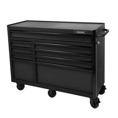 52 in. 9-Drawer Tool Cabinet, Textured Black