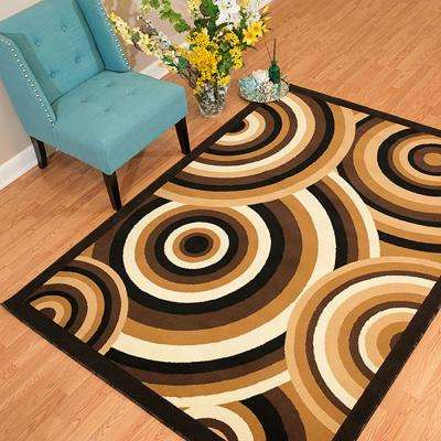 Cafe Cappuccino Brown 8 ft. x 11 ft. Oversize Area Rug