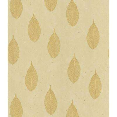 Madhya Beige Leaf Toss Wallpaper Sample
