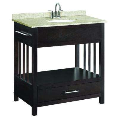 Ventura 30 in. W x 21 in. D Console Unassembled Vanity Cabinet Only in Espresso