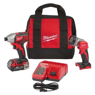 M18 18-Volt Lithium-Ion Cordless Impact Driver/Worklight Kit