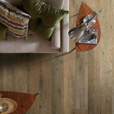 Medina Oak 8 in. x 72 in. Canyon Resilient Vinyl Plank Flooring (31.51 sq. ft. / case)