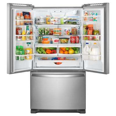 20 cu. ft. French Door Refrigerator in Fingerprint Resistant Stainless Steel with Internal Water Dispenser Counter Depth