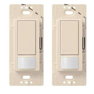 Maestro Single Pole Occupancy Motion Sensing Switch - Light Almond (2-Pack)