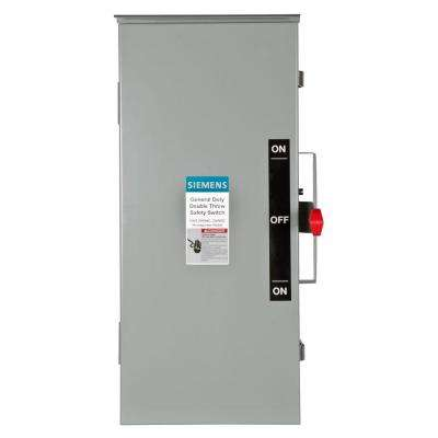 General Duty Double Throw 100 Amp 240-Volt 3-Pole Outdoor Non-Fusible Safety Switch with Neutral