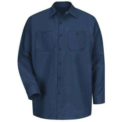 Men's Navy Long-Sleeve Work Shirt