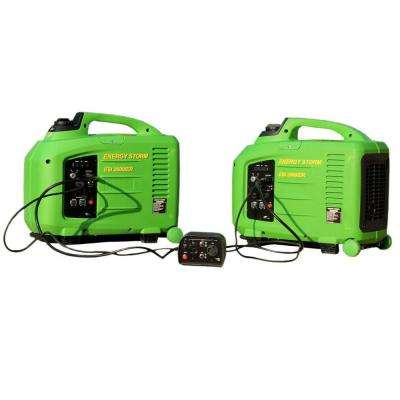 Energy Storm 2,800-Watt Gasoline Powered Remote Start Inverter Generator with Connection System