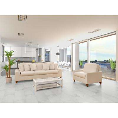 Carrara 12 in. x 24 in. Polished Porcelain Floor and Wall Tile (16 sq. ft. / case)