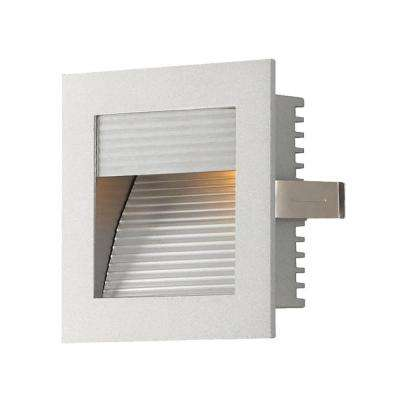 3.5 in. Indoor Recessed Xenon Step Light for New Construction with Grey Trim and Grey Reflector