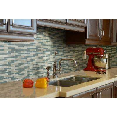 Colosseo Azul Textured 12 in. x 12 in. x 4mm Stone Glass Mesh-Mounted Mosaic Tile (1 sq. ft.)