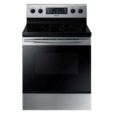 5.9 cu. ft. Freestanding Electric Range with Self Cleaning and 5 Burners in Stainless Steel