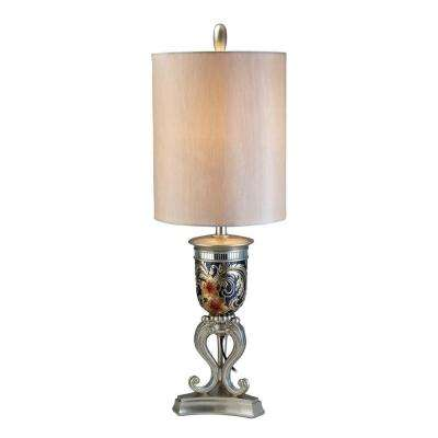 36.5 in. Silver Floral Table Lamp-DISCONTINUED