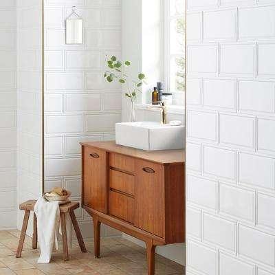 Hemline White 6 in. x 12 in. Ceramic Subway Wall Tile (11.7 sq. ft. / case)
