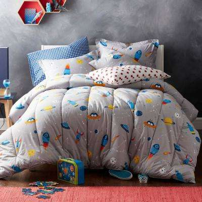 Space Mission 200-Thread Count Cotton Percale Comforter