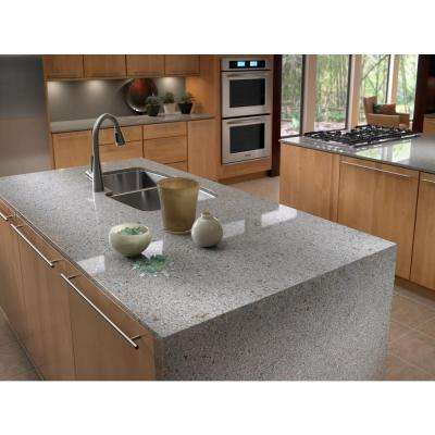 2 in. x 4 in. Quartz Countertop Sample in Riverbed