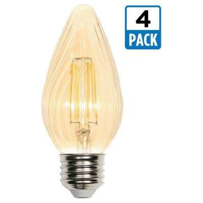 40W Equivalent Amber F15 Dimmable Filament LED Light Bulb (4-Pack)