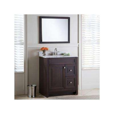 Brinkhill 30 in. W x 34 in. H x 21 in. D Bathroom Vanity Cabinet Only in Chocolate