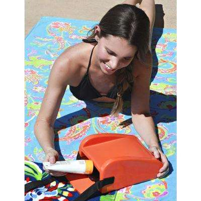 Orange Pool and Beach Headrest and Accessory Bag