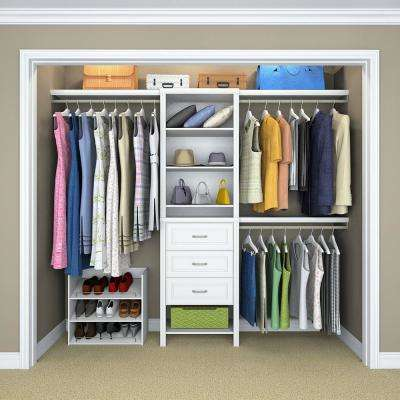 Impressions 14.5 in D x 25.1 in. W x 82.5 in. H White Standard Wood Closet Kit