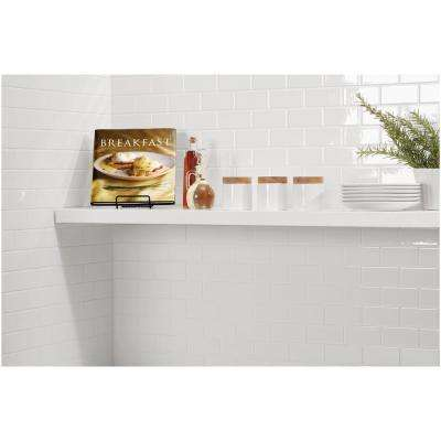 Restore Bright White 12 in. x 12 in. x 6.35 mm Ceramic Mosaic Wall Tile (0.83 sq. ft./ piece)