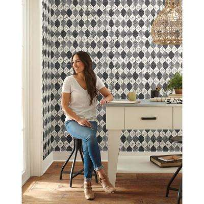56 sq.ft. Woodblock Print Wallpaper