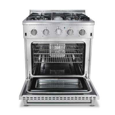 30 in. 4.2 cu. ft. Dual Fuel Range in Stainless Steel