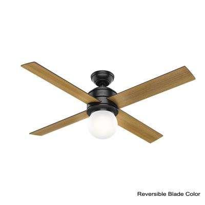 Hepburn 52 in. LED Indoor Matte Black Ceiling Fan