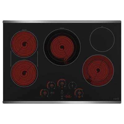 30 in. Radiant Electric Cooktop in Stainless Steel with 5 Elements Including Tri-Ring Power Boil Element