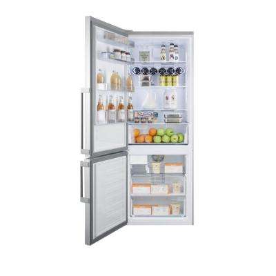 27 in. 16.4 cu. ft. Bottom Freezer Refrigerator in Stainless Steel, Counter Depth