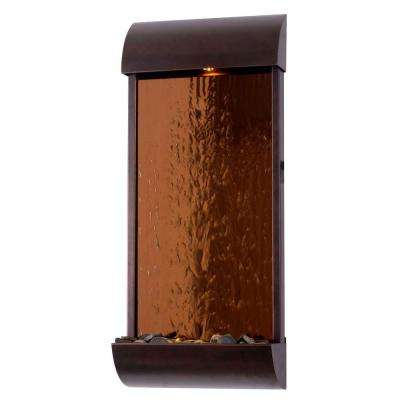 Aspen 33 in. Bronzed/Coppered Mirrored Face Wall Fountain