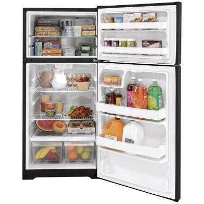 15.6 cu. ft. Top Freezer Refrigerator in Black