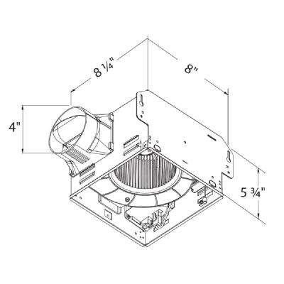 GreenBuilder Series 50 CFM Ceiling Bathroom Exhaust Fan with Light, ENERGY STAR