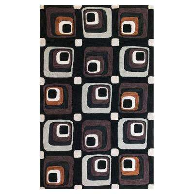Square Eyes Charcoal 5 ft. x 7 ft. 6 in. Area Rug
