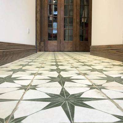 Kings Star Nero Encaustic 17-5/8 in. x 17-5/8 in. Ceramic Floor and Wall Tile (11.02 sq. ft. / case)